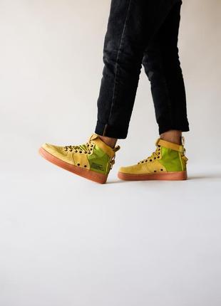 Шикарные мужские кроссовки nike special field af1 olive оливко...