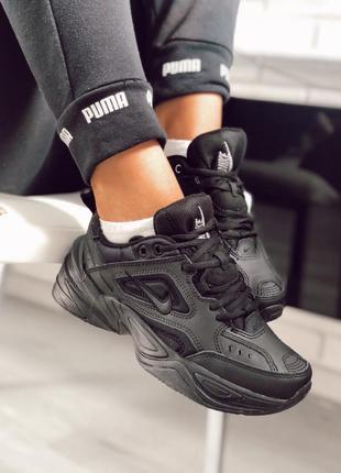 Шикарные женские кроссовки nike m2k tekno black чёрные 😃 (весн...