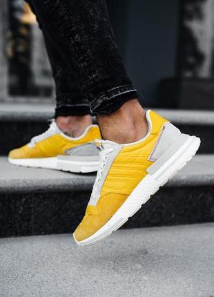 Шикарные мужские кроссовки adidas zx 500 rm bold gold желтые 😃...