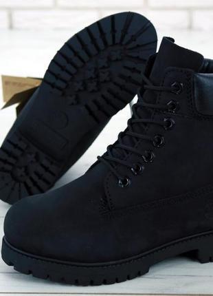 Шикарные женские ботинки timberland boots black чёрные 😃 (весн...