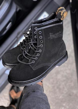 Шикарные женские ботинки dr. martens 1460 black suede 😃 (весна...