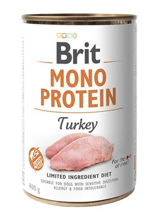 Brit Mono Protein turkey консервированный корм для собак с инд...