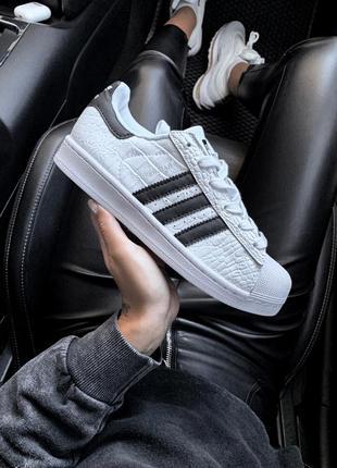 Шикарные женские кроссовки adidas superstar black white 😃 (вес...