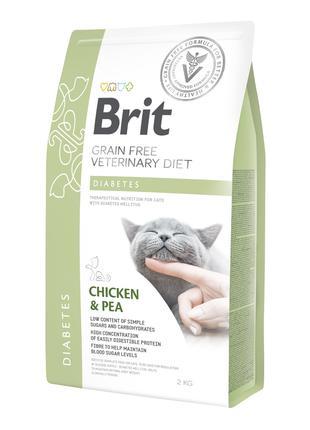 Brit GF Veterinary Diet Diabetes сухой корм для кошек при саха...