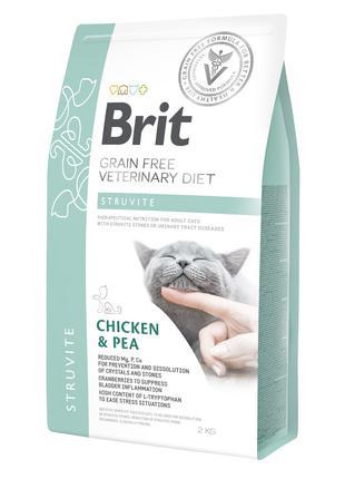 Brit GF Veterinary Diet Struvite сухой корм для кошек при забо...