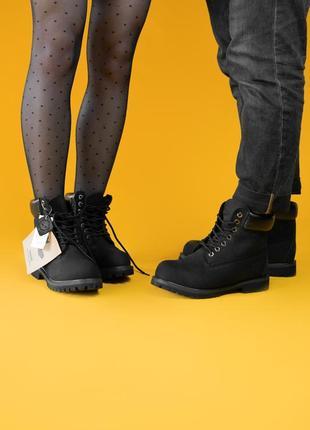 Шикарные мужские ботинки timberland black ( термо) 😃( осень ев...