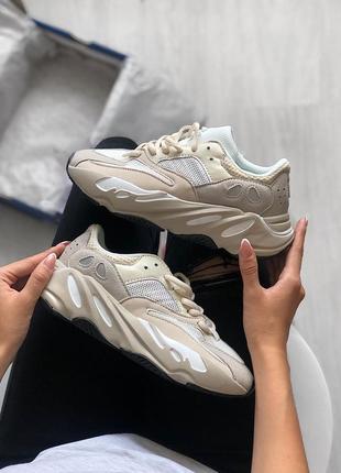 Шикарные женские кроссовки adidas yeezy 700 white😃 (весна лето...