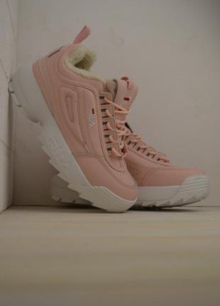 Шикарные женские кроссовки fila disruptor ii 2 pink розовые с ...