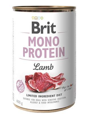 Brit Mono Protein lamb консервированный корм для собак с ягнен...