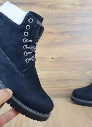 Шикарные женские ботинки timberland темно-синие ботинки женски...