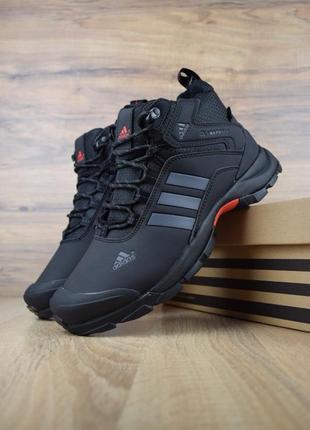 Шикарные мужские кроссовки ботинки adidas climaproof высокие ч...
