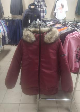 Женская зимняя куртка-парка.