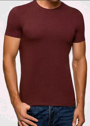 Мужская летняя футболка однотонная