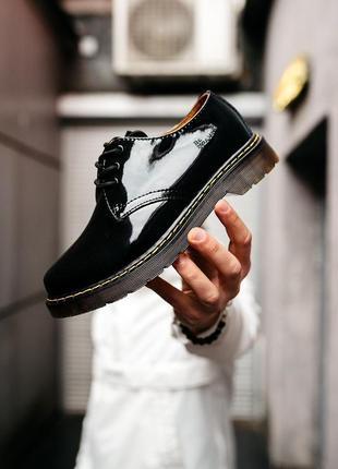 Шикарные женские туфли dr. martens black чёрные😃 (весна лето о...