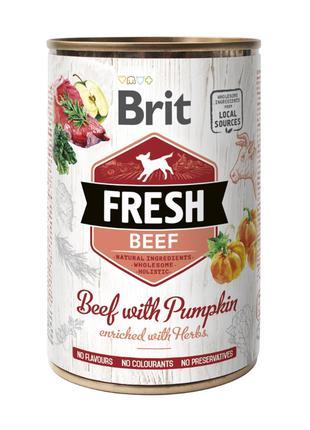 Brit Fresh Beef with Pumpkin консервированный корм для собак с...