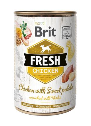 Brit Fresh Chicken with Sweet Potato консервированный корм для...