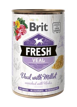 Brit Fresh Veal with Millet консервированный корм для собак с ...