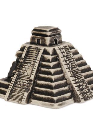 Декорация в аквариум Пирамида Майя ТМ Природа 11.5х11х8см