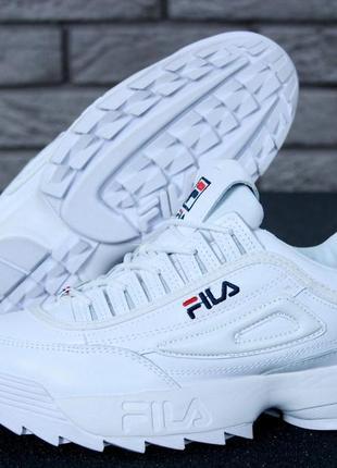 Шикарные женские кроссовки fila disruptor ii fur white зимние ...