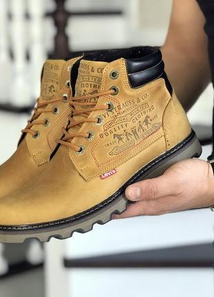 Шикарные мужские ботинки levis желтые с мехом зимние😃(зима)
