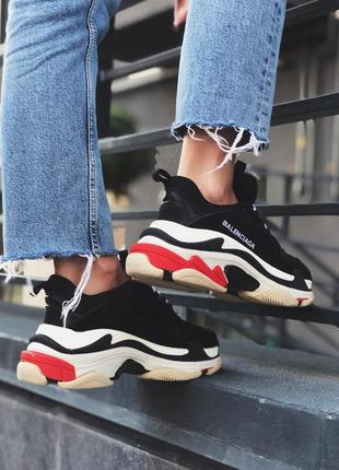 Шикарные женские кроссовки balenciaga triple s black white 😃 (...