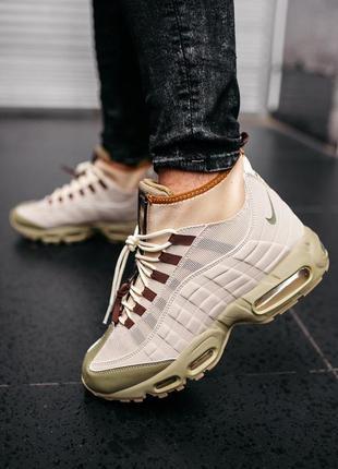 Шикарные мужские ботинки nike air max 95 sneakerboot beige 😃(о...