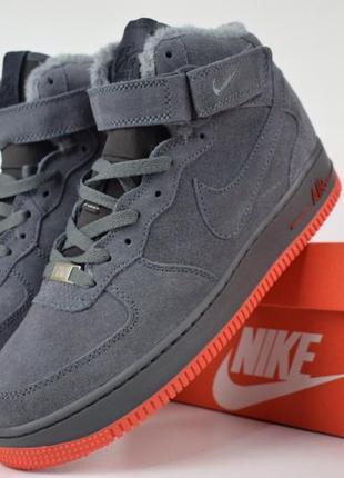 Шикарные мужские ботинки nike air force 1 high winter с мехом ...