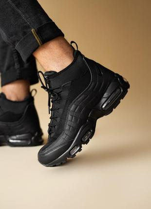 Шикарные мужские ботинки nike air max 95 sneakerboot black 😃(о...