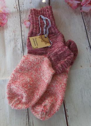 Вязаные шерстяные носки ручная работа размер 39-40