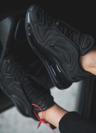Шикарные мужские кроссовки nike air max 720 black чёрные 😃 (ве...