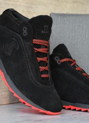 Шикарные мужские ботинки level black чёрные 😃 (зима)