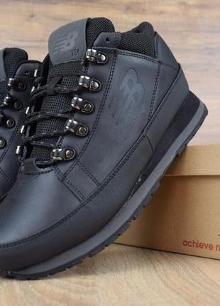 Шикарные мужские ботинки кроссовки new balance 754 черные зимн...