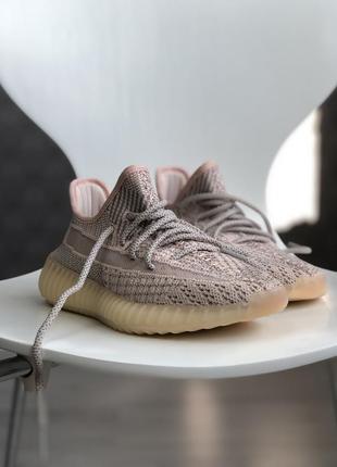 Шикарные женские кроссовки adidas yeezy boost 350 pink рефлект...