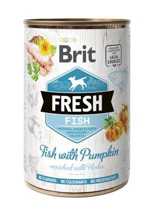 Brit Fresh Fish with Pumpkin консервированный корм для собак с...