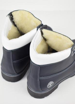 Шикарные женские ботинки timberland темно-синие зимние 😃 (зима)