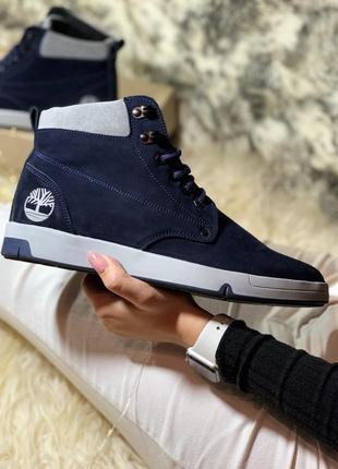 Шикарные мужские ботинки timberland синие с мехом зимние😃{зима}