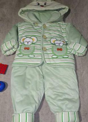 Утеплённый костюм на мальчика. осень / зима