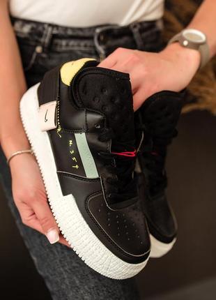 Шикарные женские кроссовки nike air force 1 type n. 354 black ...