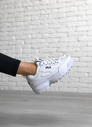Шикарные женские кроссовки fila disruptor 2 ii white😃 (весна л...