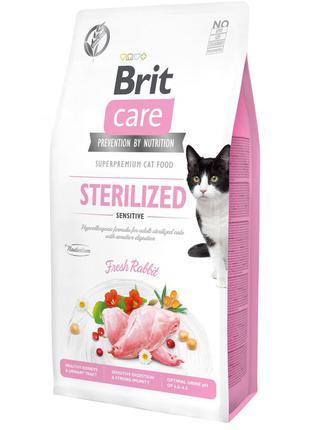 Сухий корм для стерилізованих котів з чутливим травленням Brit...