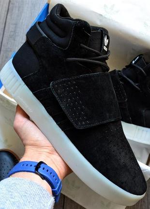 Adidas tubular invader black white шикарные мужские кроссовки ...