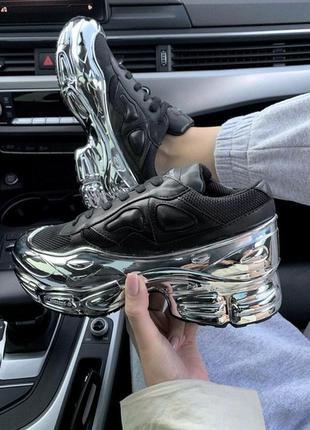 Adidas raf simons ozweego 3 black шикарные женские кроссовки о...