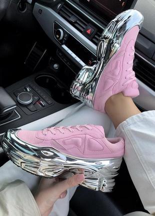 Adidas raf simons ozweego 3 розовые шикарные женские кроссовки...