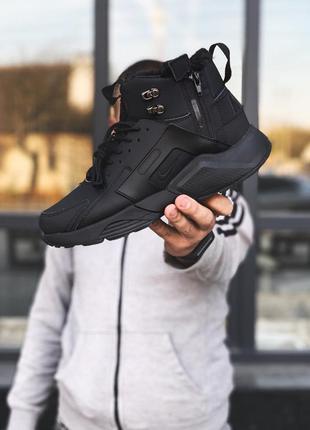 Nike huarache x acronym black шикарные мужские ботинки с мехом...