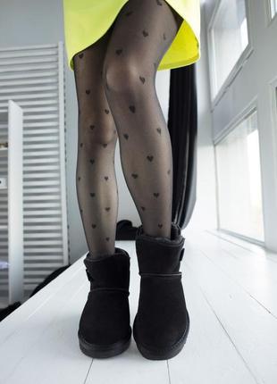 Ugg bailey button black замшевые шикарные женские сапоги угги ...