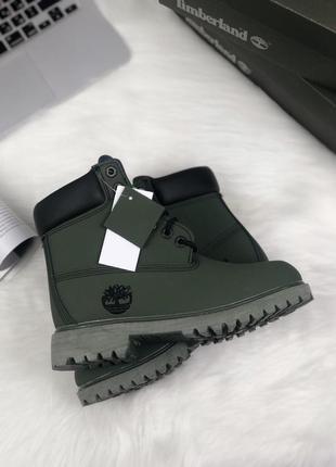 😊timberland mind night green🤗 женские ботинки термо осень зима...