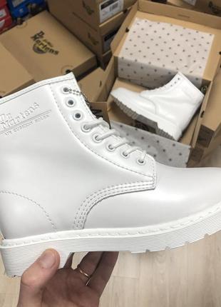 Dr. martens 1460 mono white fur 🤗 шикарные женские ботинки с м...