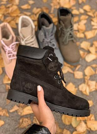 😊timberland bkack fur🤗 женские ботинки сапоги зимние теплые зима