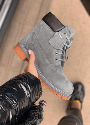 😊timberland grey fur🤗 женские ботинки сапоги зимние теплые зима