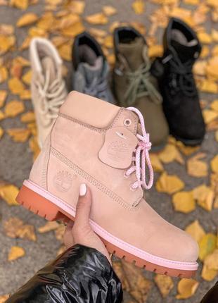 😊timberland pink fur🤗 женские ботинки сапоги зимние теплые зима